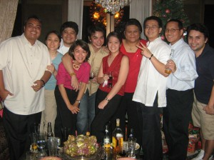 at their christmas party last monday