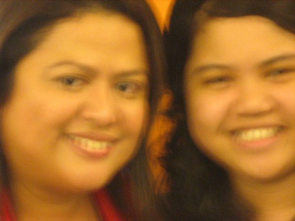 with Sandra Aguinaldo, this was taken by the guard in the store