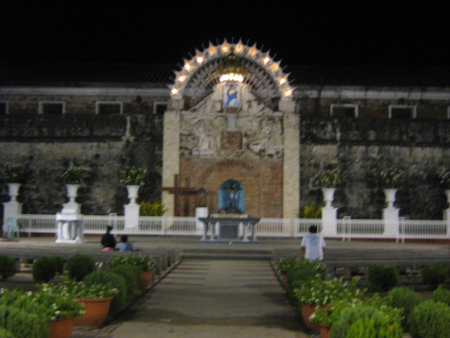 Pillar Church, where an aparition was said to have happened. People come here to pray, light a candle and make a wish.