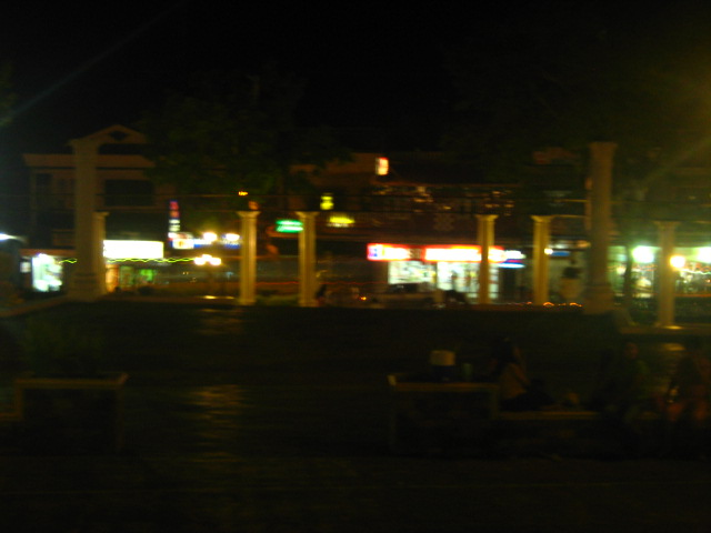 Their local plaza
