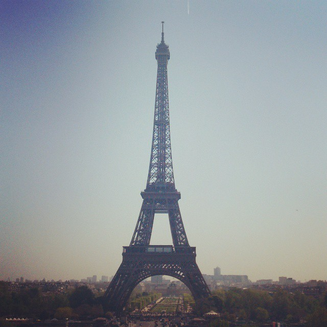 The view from Trocadero in Paris