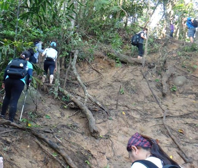 The muddy slippery trail