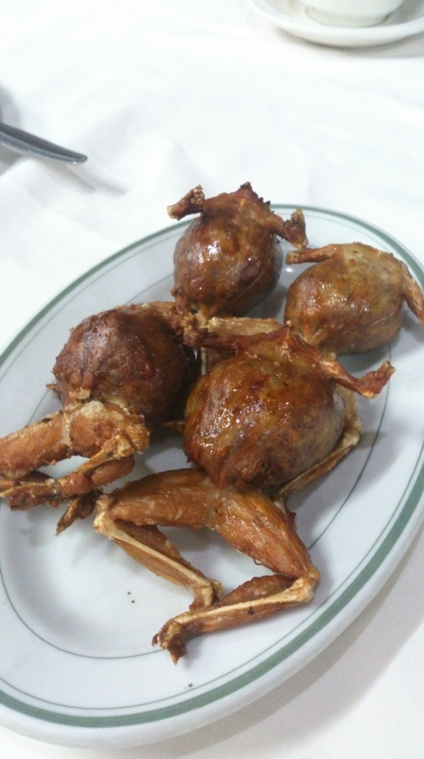 Stuffed fried Frogs.